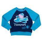 Джемпер (толстовка) для мальчика, рост 92 см, цвет синий/бирюзовый ZB 09199-GB1