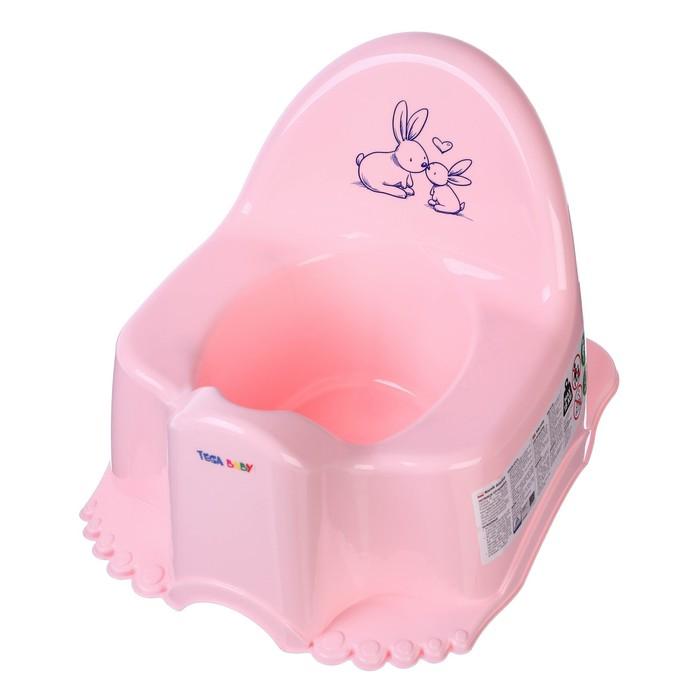 Горшок детский музыкальный «Кролики», цвет розовый