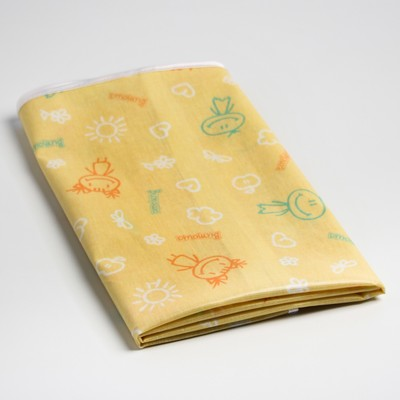 Клеёнка с ПВХ-покрытием, 60х120 см, на резинке, цвета МИКС