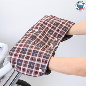 Муфта для рук на санки или коляску флисовая, на кнопках, цвета МИКС