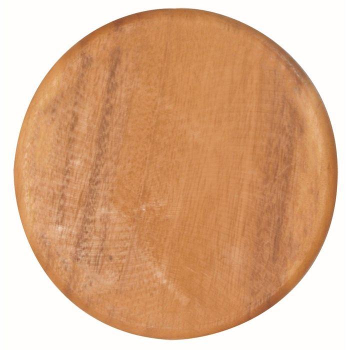 Доска разделочная круглая Green way, тонированная, с желобком, 22 × 1 см