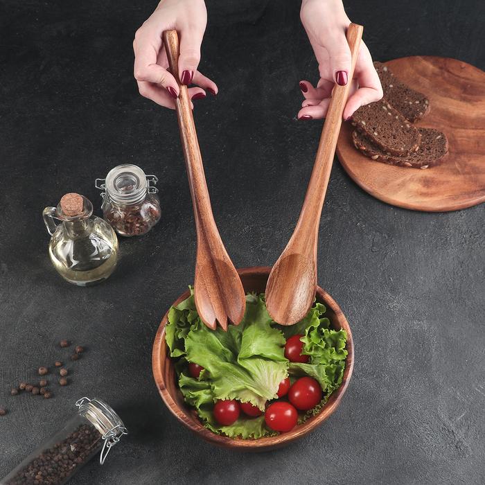 Приборы для салата тонированные Green way, 2 предмета, тропическая акация