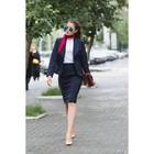 Костюм женский (пиджак, юбка) 5755, р-р 48, рост 164 см, цвет тёмно-синий