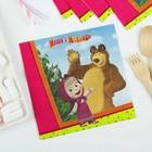"""Бумажные салфетки """"Маша и Медведь"""", 33 см, набор 12 шт."""