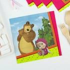 Бумажные салфетки «Маша и Медведь», 33 см, набор 12 шт. - фото 7356812