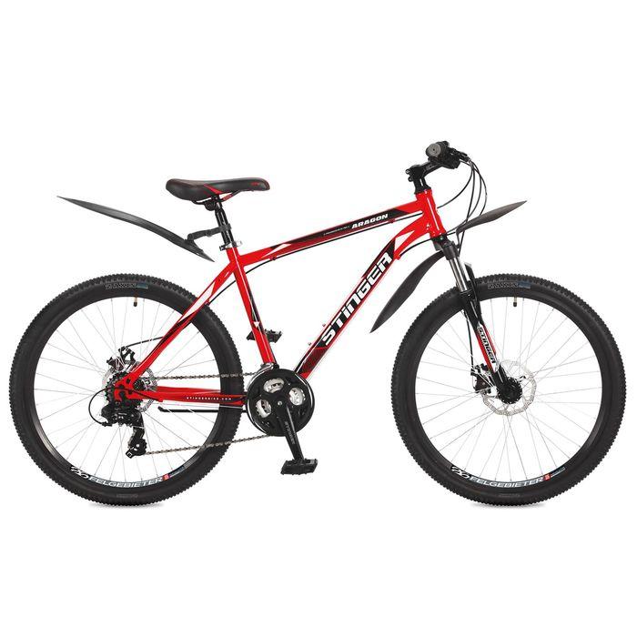 """Велосипед 26"""" Stinger Aragon, 2017, цвет красный, размер 16"""""""