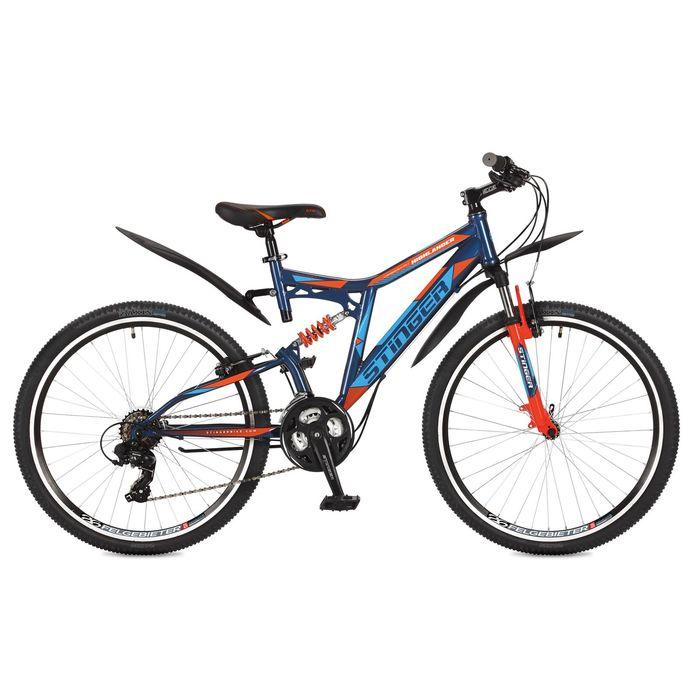 """Велосипед 26"""" Stinger Highlander 200V, 2017, цвет синий, размер 18"""""""