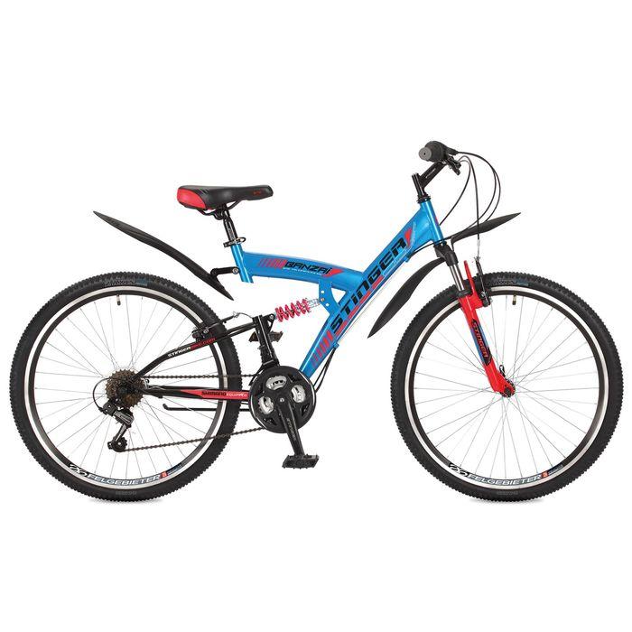 "Велосипед 26"" Stinger Banzai, 2017, цвет синий, размер 18"""