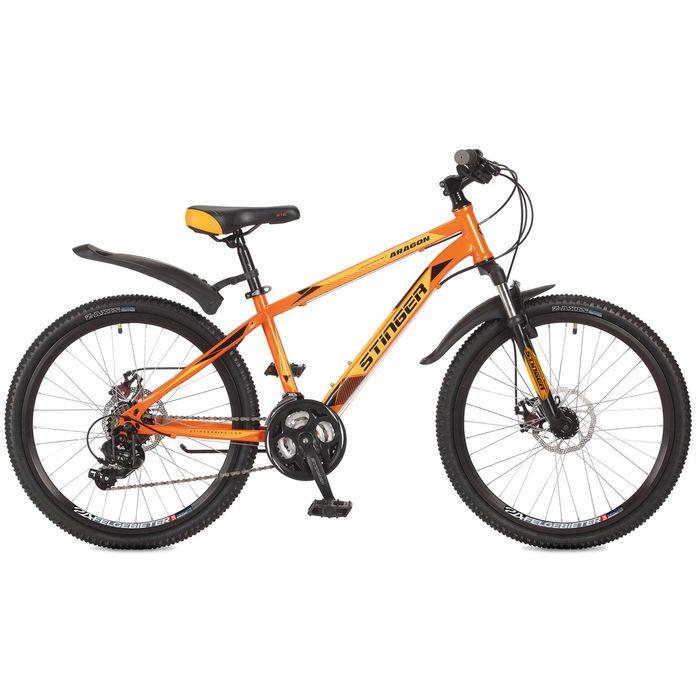 """Велосипед 24"""" Stinger Aragon, 2017, цвет оранжевый, размер 12,5"""""""