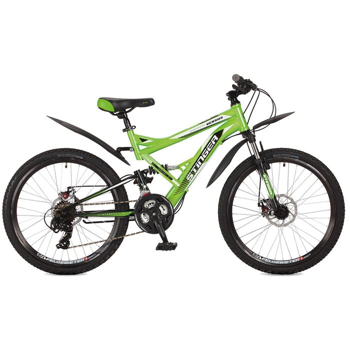 """Велосипед 24"""" Stinger Versus D, 2017, цвет зелёный, размер 16,5"""""""