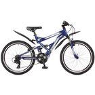 """Велосипед 24"""" Stinger Versus, 2017, цвет синий, размер 16,5"""""""
