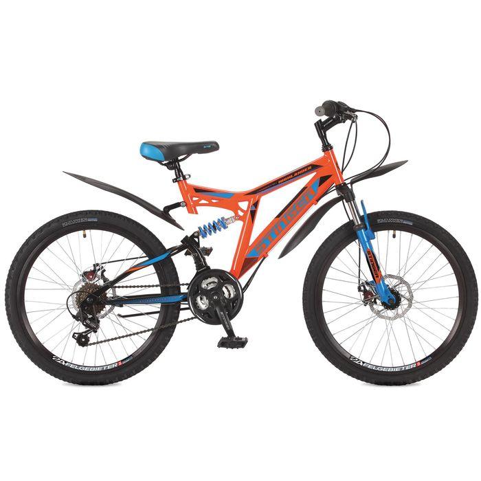 "Велосипед 24"" Stinger Highlander 100D, 2017, цвет оранжевый, размер 14"""