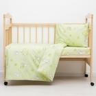 Детское постельное бельё (3 предмета), принт зелёный микс 07.3