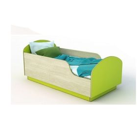 Кровать Малыш  без матраца Дуб / Лайм 700х1400