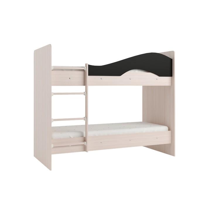 Кровать 2-х ярусная 800х1900 венге/млечный дуб