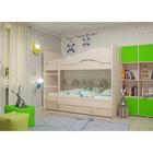 Кровать 2-х ярусная 800х1900 с ящиками, млечный дуб