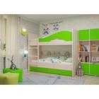 Кровать 2-х ярусная 800х1900 с ящиками, млечный  дуб/лайм