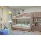 Кровать 2-х ярусная 800х1900 с ящиками, ясень шимо