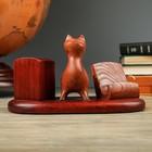 """Письменный прибор """"Комби"""" с котом стоящим"""