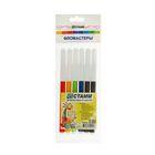 """Фломастеры 6 цветов """"Веселые игрушки"""", толщина линии письма 1.0 мм, супер-смываемые чернила, европодвес"""
