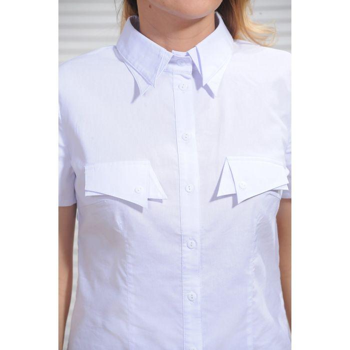 09a0093a682c833 Рубашка женская 8055, размер 52, рост 164 см, цвет белый в Бишкеке ...