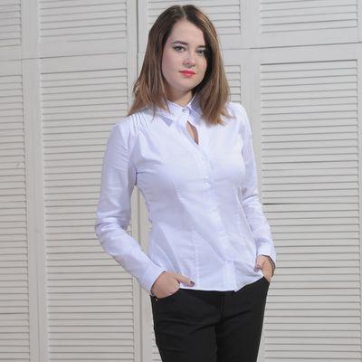 Рубашка женская классическая, размер 52, рост 164 см, цвет белый