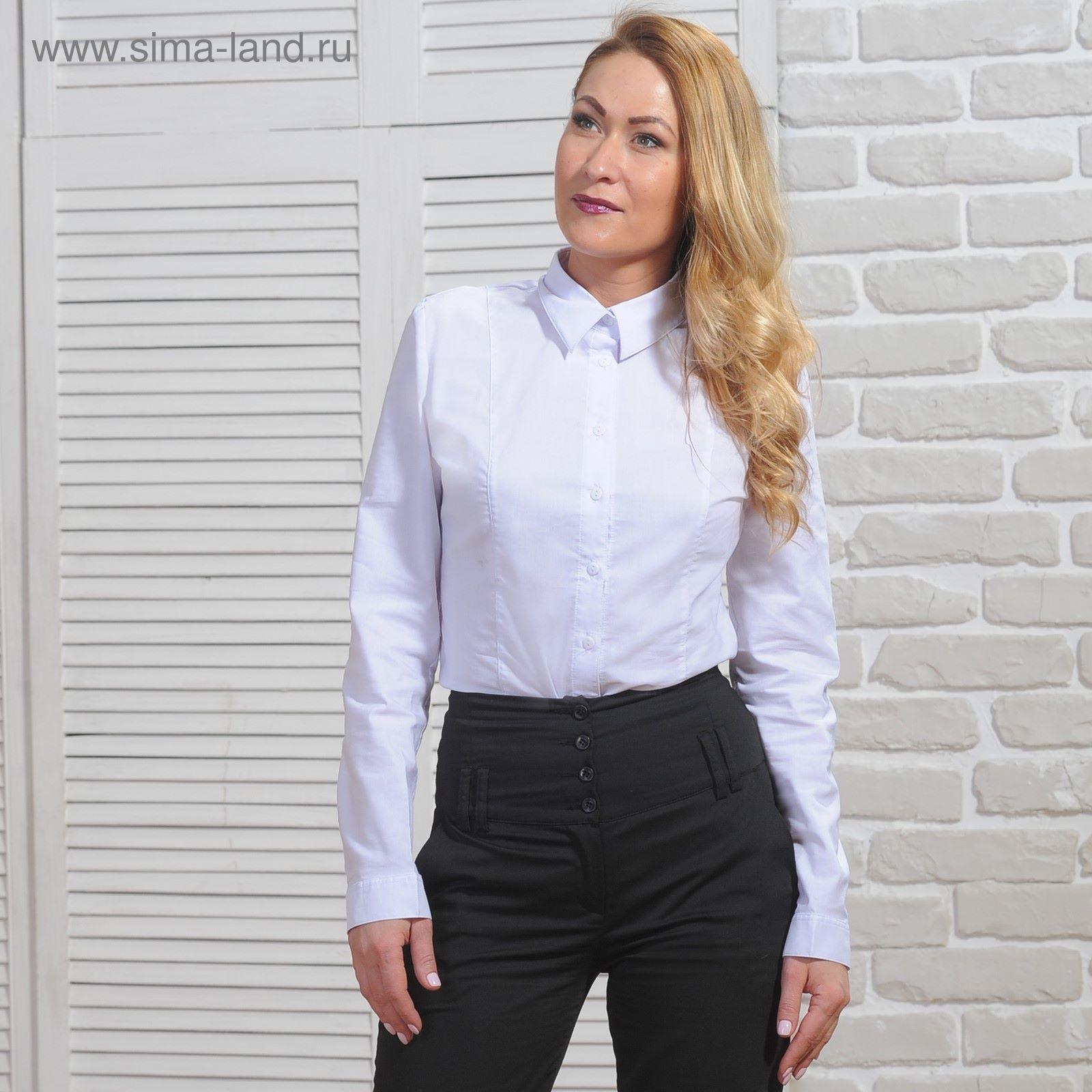 9ffb420fd7d0 Рубашка женская классическая, размер 56, рост 164 см, цвет белый ...