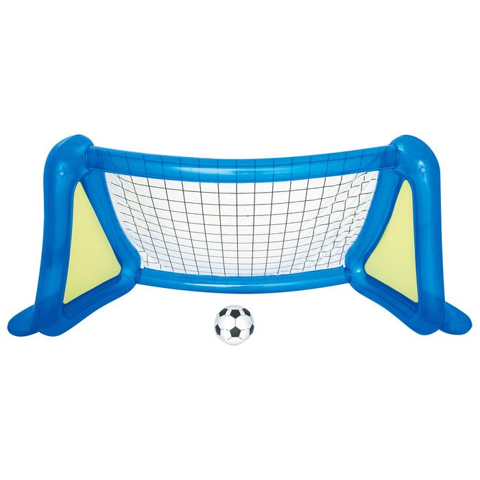 Футбольный набор (надувные ворота с брызгалкой + мяч) 254х112х130см, от 4 лет (52215)