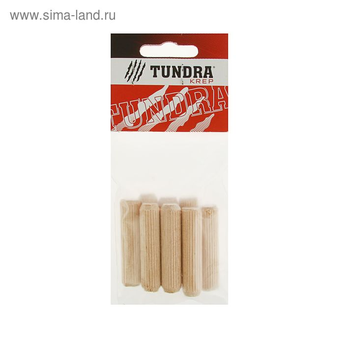 Шкант мебельный TUNDRA krep, 12х50 мм, в пакете 8 шт.