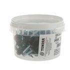 Саморезы кровельные TUNDRA krep, 4.8х35 мм, сверло, цвет коричневый шоколад RAL 8017, 60 шт.
