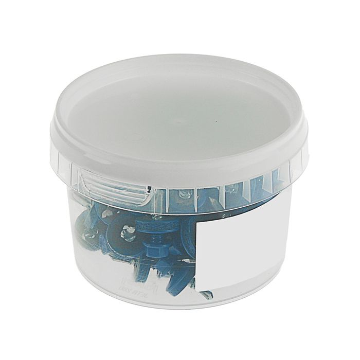 Саморезы кровельные TUNDRA krep, 5.5х19 мм, сверло, цвет ярко-синий RAL 5005, 60 шт.