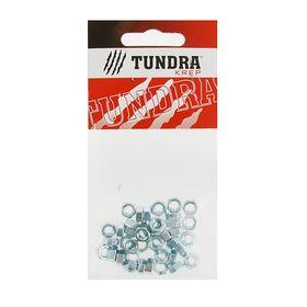 Гайка шестигранная DIN934 TUNDRA krep, оцинкованная, М5, в пакете 40 шт. Ош