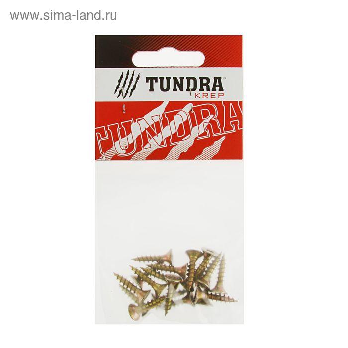 Саморезы универсальные TUNDRA krep, 4.5х20 мм, жёлтый цинк, потай, 18 шт.