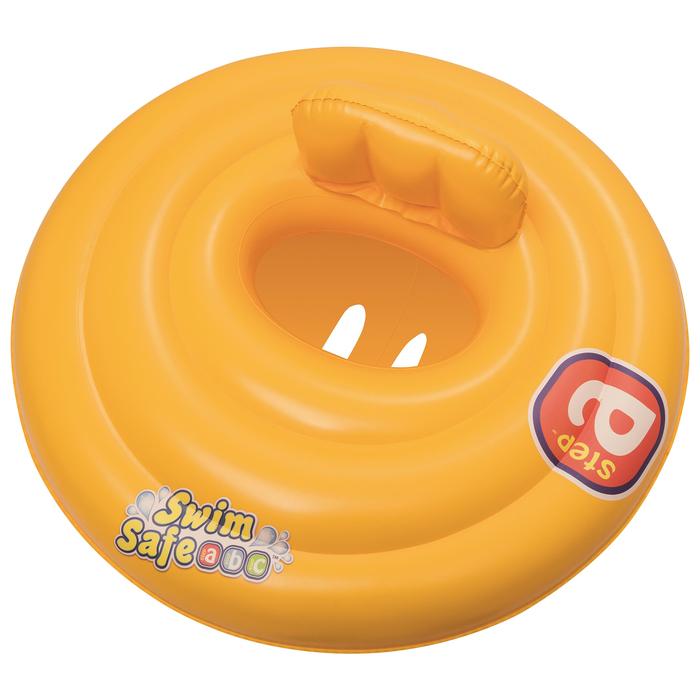 Круг для плавания Swim Safe ступень «А», с сиденьем и спинкой, d=69 см, от 0-1 года, 32096 Bestway - фото 105575420