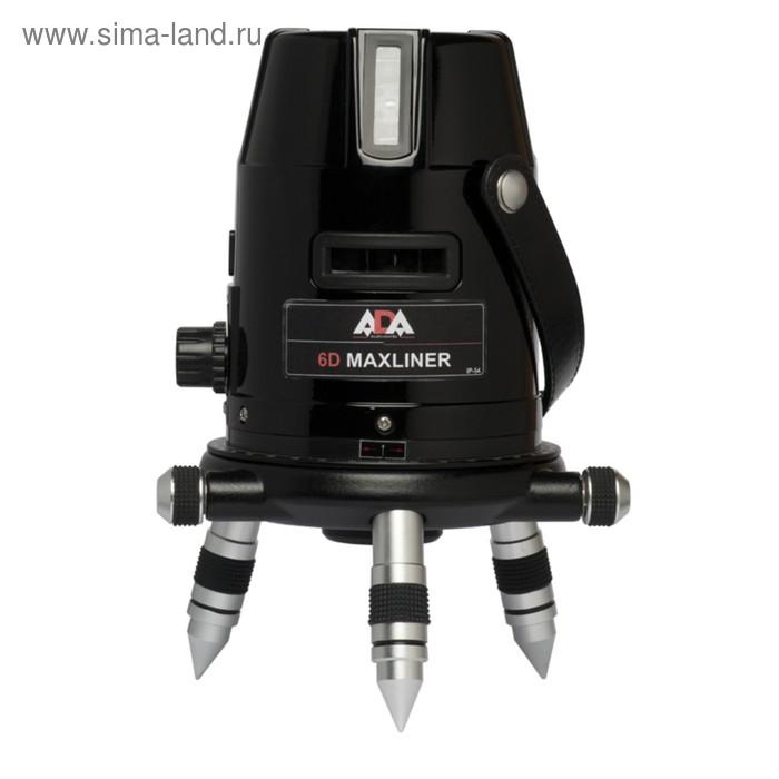 Нивелир лазерный 6D Maxliner ADA, проекции 3 гор./4 верт./отвес, диапазон 10м/50м, кейс