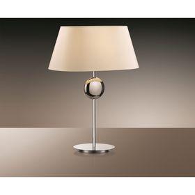 """Настольная лампа """"Хотэл"""", 60Вт Е27, цвет хром"""