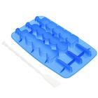 "Форма для леденцов и мороженого, 3 ячейки, 20х10 см ""Канапе"", палочки в комплекте, цвета МИКС"