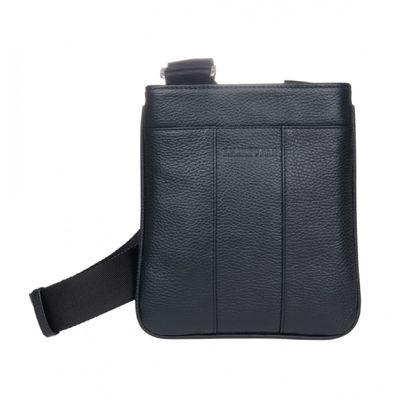 Планшет мужской на молнии, 1 отдел, наружный карман, длинный ремень, цвет чёрный
