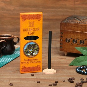 """A set of traditional Russian incense """"cedar of Lebanon"""", 7pcs + stand"""