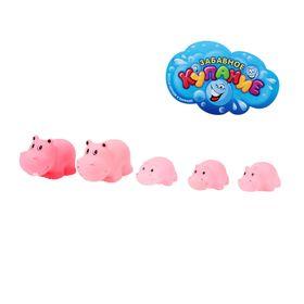 Набор игрушек для ванны «Бегемоты», 5 шт.