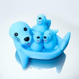 Набор резиновых игрушек для игры в ванной МИКС: мыльница, игрушки 3 шт.