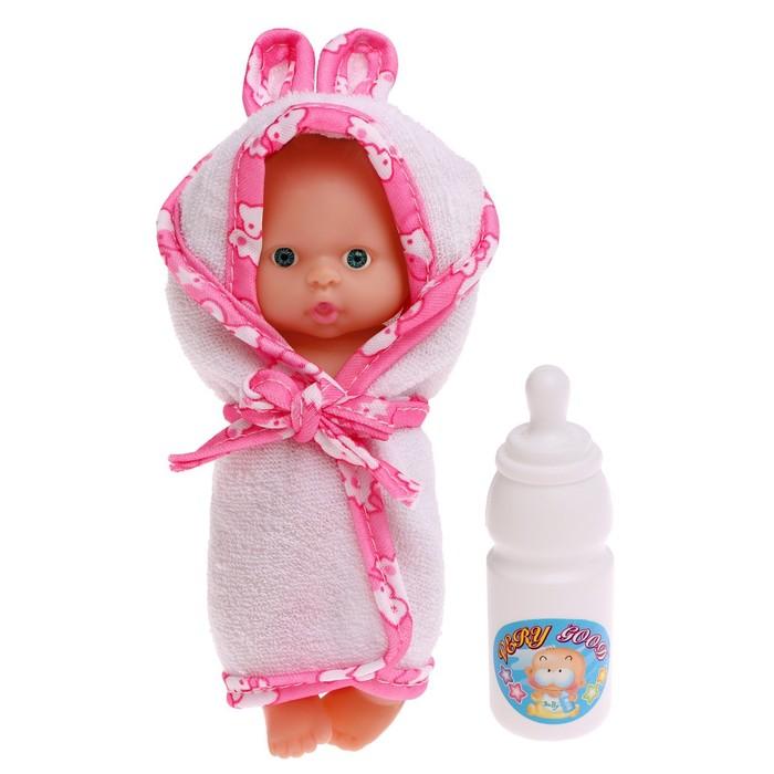 Пупс «Малыш», в банном халатике, МИКС