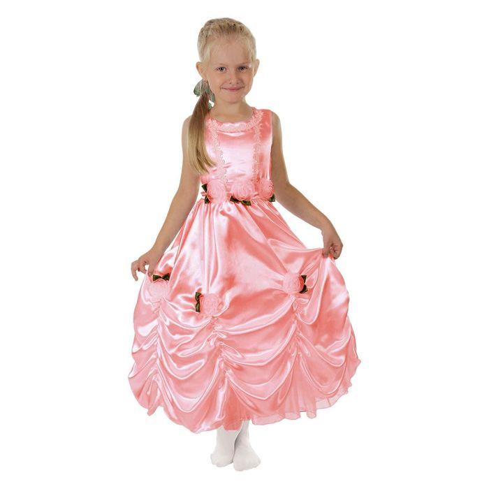 """Карнавальное платье """"Принцесса 003"""", р-р 56, рост 98-104 см, цвет коралловый"""