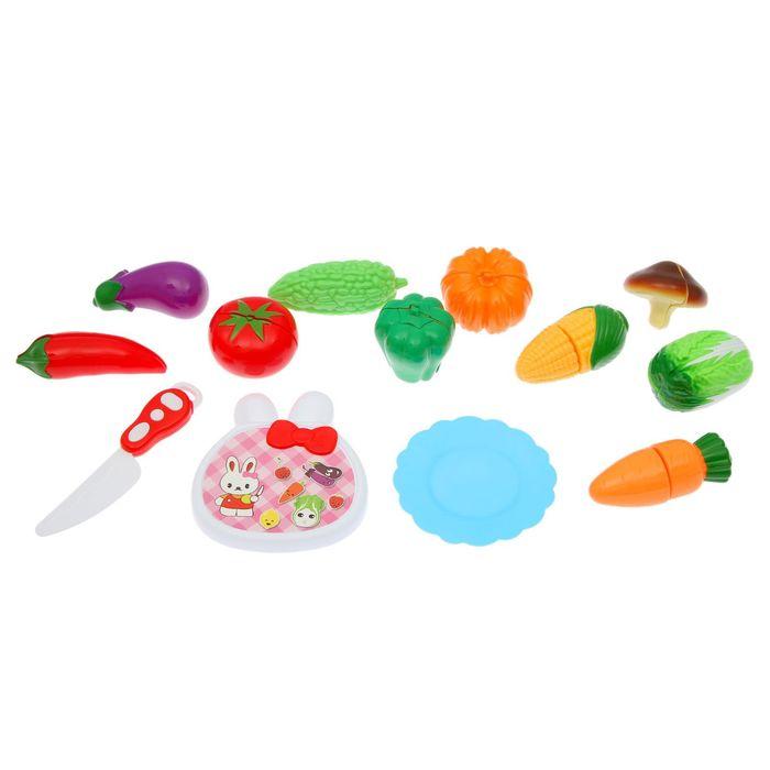 """Набор продуктов для нарезки на липучках """"Фруктово-овощной микс-4"""""""