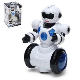 """Robot """"Dancer"""", light and sound effects, runs on batteries"""