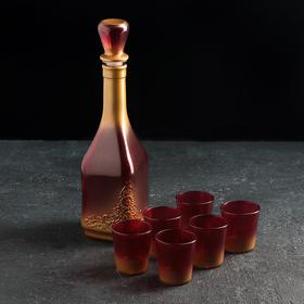 Набор питьевой «Боярский», 7 предметов: графин 500 мл, 6 стопок 50 мл), напыление, цвета МИКС