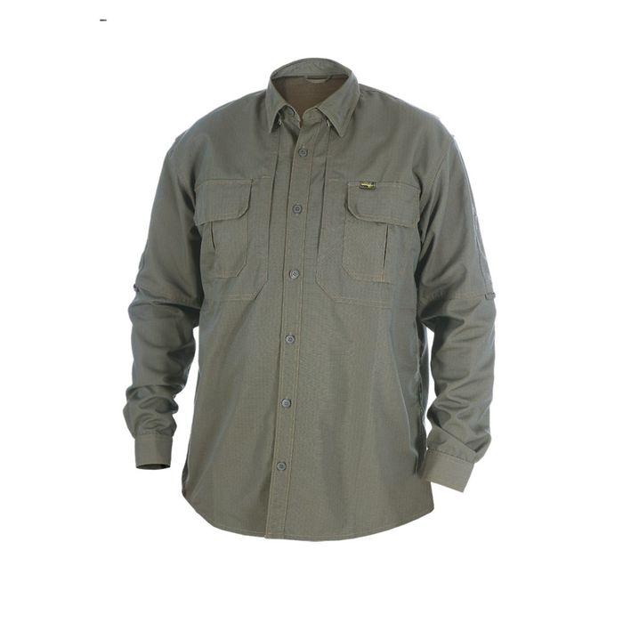 """Рубашка """"Тактика"""" длинный рукав (хаки) 56/170-176 р-р"""