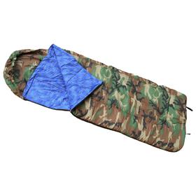 Спальный мешок с капюшоном одеяло, комбинированный, размер 100 х 180 см