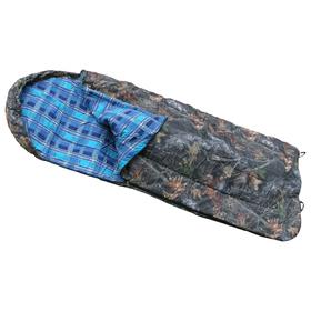 Спальный мешок с подголовником одеяло, комбинированный, размер 100 х 180 см