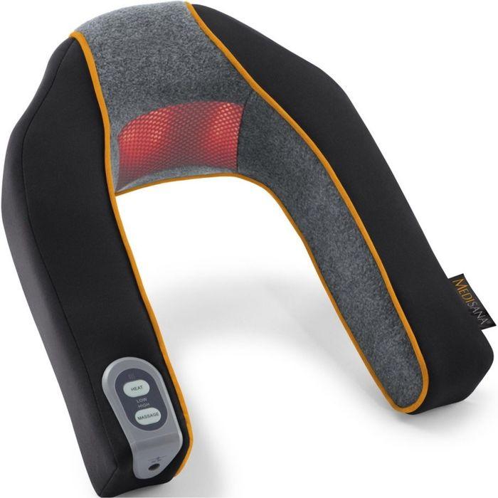 Массажер для шеи Medisana MNV, 3 Вт, 2 режима, функция обогрева,  черный/серый